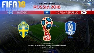 FIFA 18 World Cup - Sweden vs. South Korea @ Nizhny Novgorod Stadium (Group F)