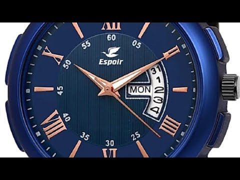 ESPOIR CHECK BLUE RAY 0507 DAY AND DATE FUNCTIONING ANALOG