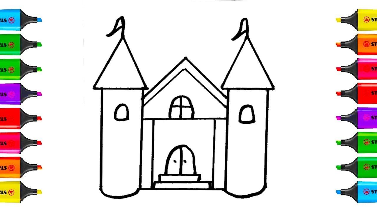 How To Draw Doll House Coloring Pages Kit Toys For Children