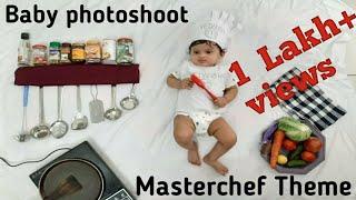 baby photography ideas | baby photography at home | baby photoshoot masterchef theme| babymasterchef