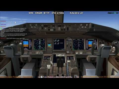 [FSX] PMDG 777F | Vienna (LOWW) to Oslo (ENGM) Part 2
