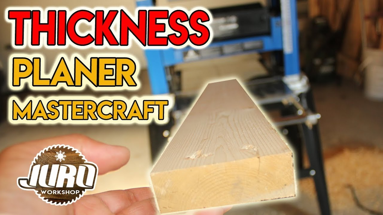 Mastercraft 15a 12 5 Inch Thickness Planer Unboxing Review Juro Workshop