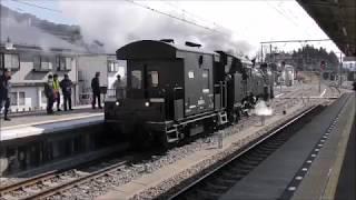 東武SL大樹3号と14系客車連結作業