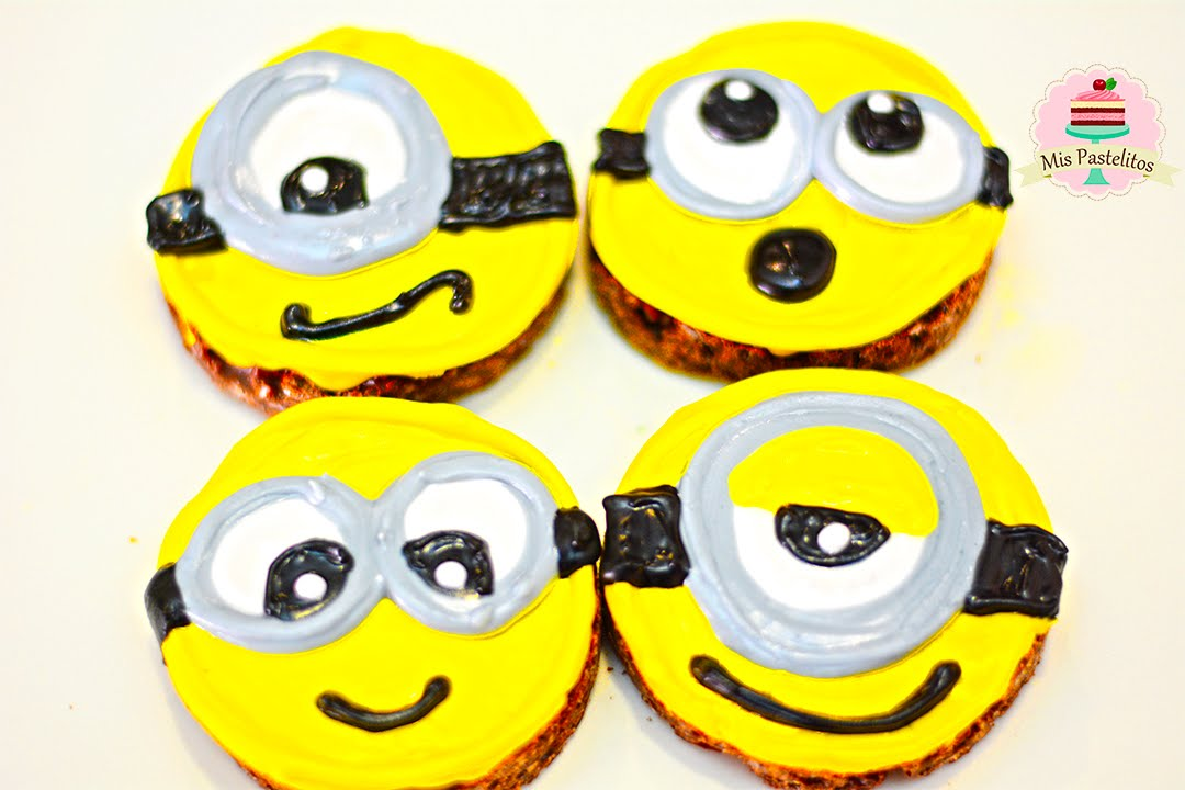 Galletas Sin Horno Solo 3 Ingredientes Minions Mis Pastelitos Kids Youtube