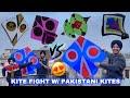 Kite Fight with Pakstani kites😱 *Bomb Design* | 3 tawa kites , Patang