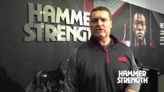 Carolina Panthers Strength and Conditioning Coach, Joe Kenn, with Hammer Strength at IHRSA 2017