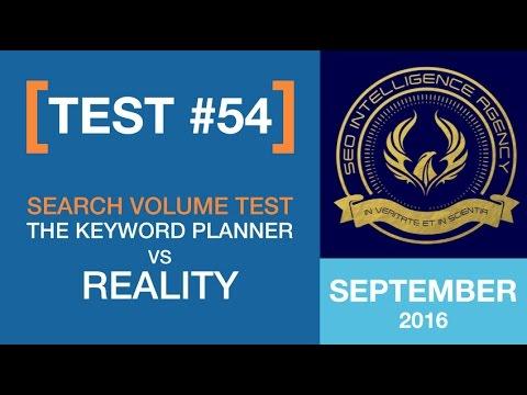 September 2016 - Test54: Search Volume Test: The Keyword Planner Vs Reality
