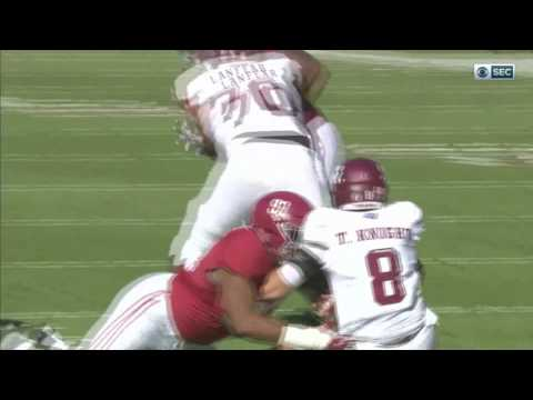 Alabama vs Texas A&M, 2016 - Jonathan Allen Takes Flight