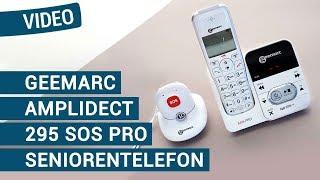 Produktvideo zu Schwerhörigen-Telefon mit Notruf-Mobilteil Geemarc AmpliDECT 295 SOS Pro