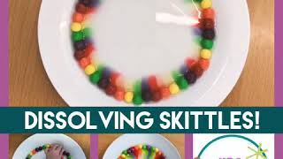 Dissolving Skittles to make a rainbow!