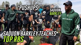 Saquon Barkley Teaches Top Running Backs How To Put Defenders On SKATES! Ankles Get SNAPPED 🤕