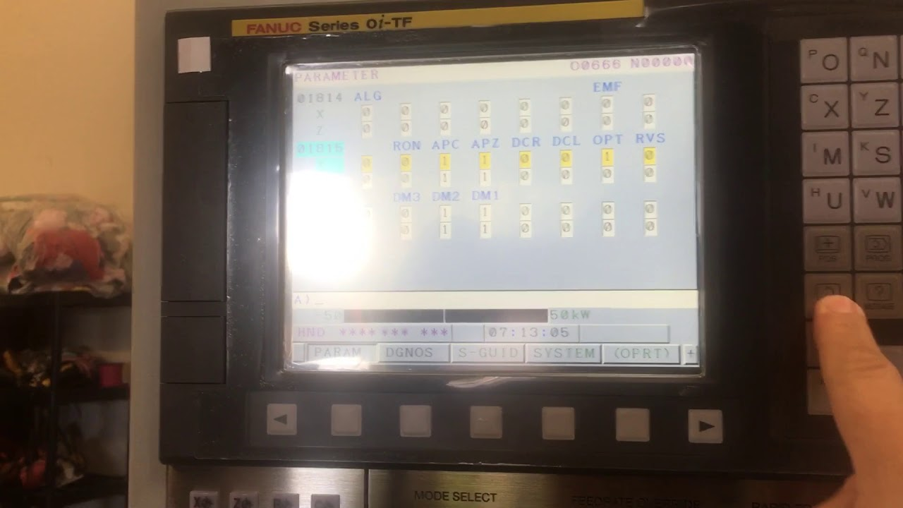 Fanuc home position reset