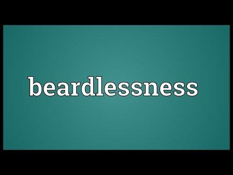 Header of beardlessness