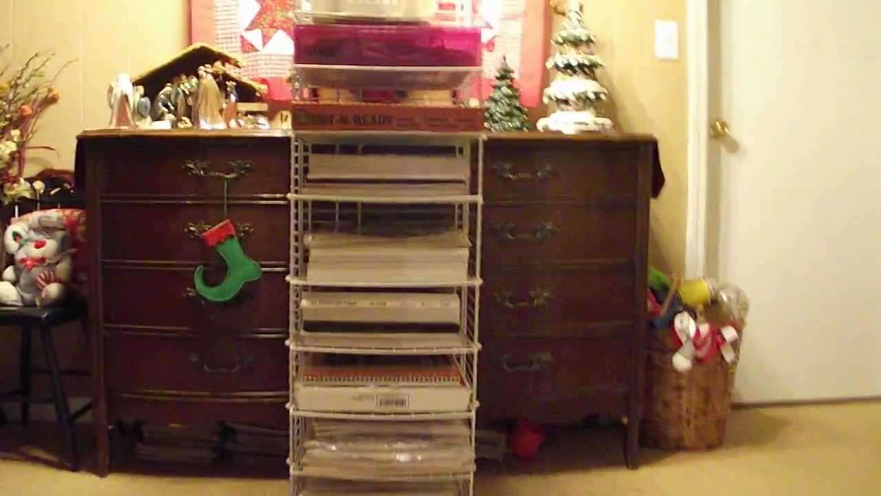EASY CHEAP DIY Homemade Heavy Duty Scrapbook Paper Pad Rack Storage Solution Idea Using Closetmaid