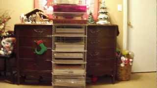Easy Cheap Diy Homemade Heavy Duty Scrapbook Paper/pad Rack Storage Solution Idea Using Closetmaid