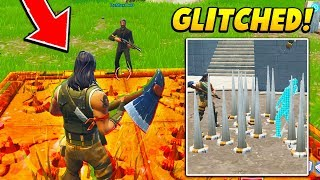 I pretended to be AFK with a GLITCHED TRAP under me.. (Fortnite Battle Royale)