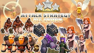 Coc Th9 Attack Strategy 2016. Town Hall 9 Attack All Combo 3 Star Clash of Clans