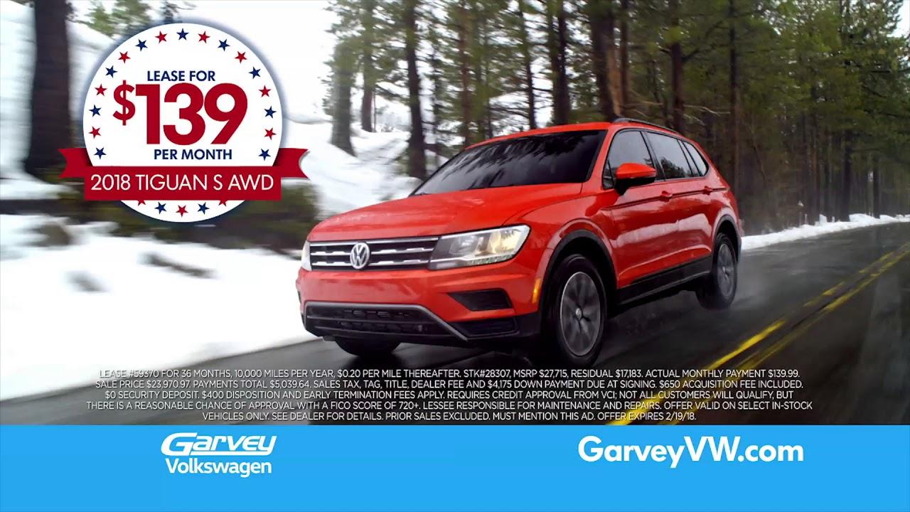Garvey Volkswagen | President's Day Sales Event - YouTube