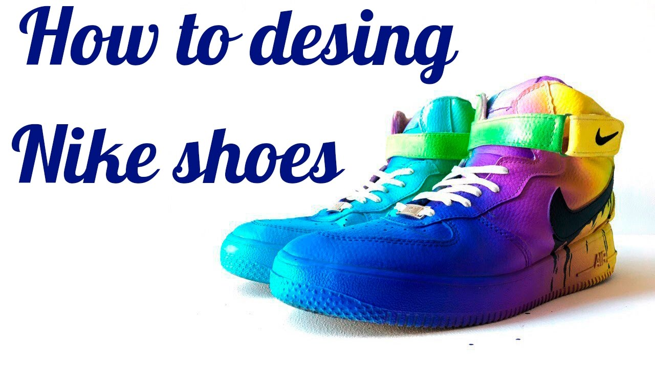 🔴How to design shoes Nike air airbrush