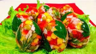 Заливное Яйца Фаберже на Праздничный Стол Очень Вкусные и Красивые Заливные Яйца Фаберже