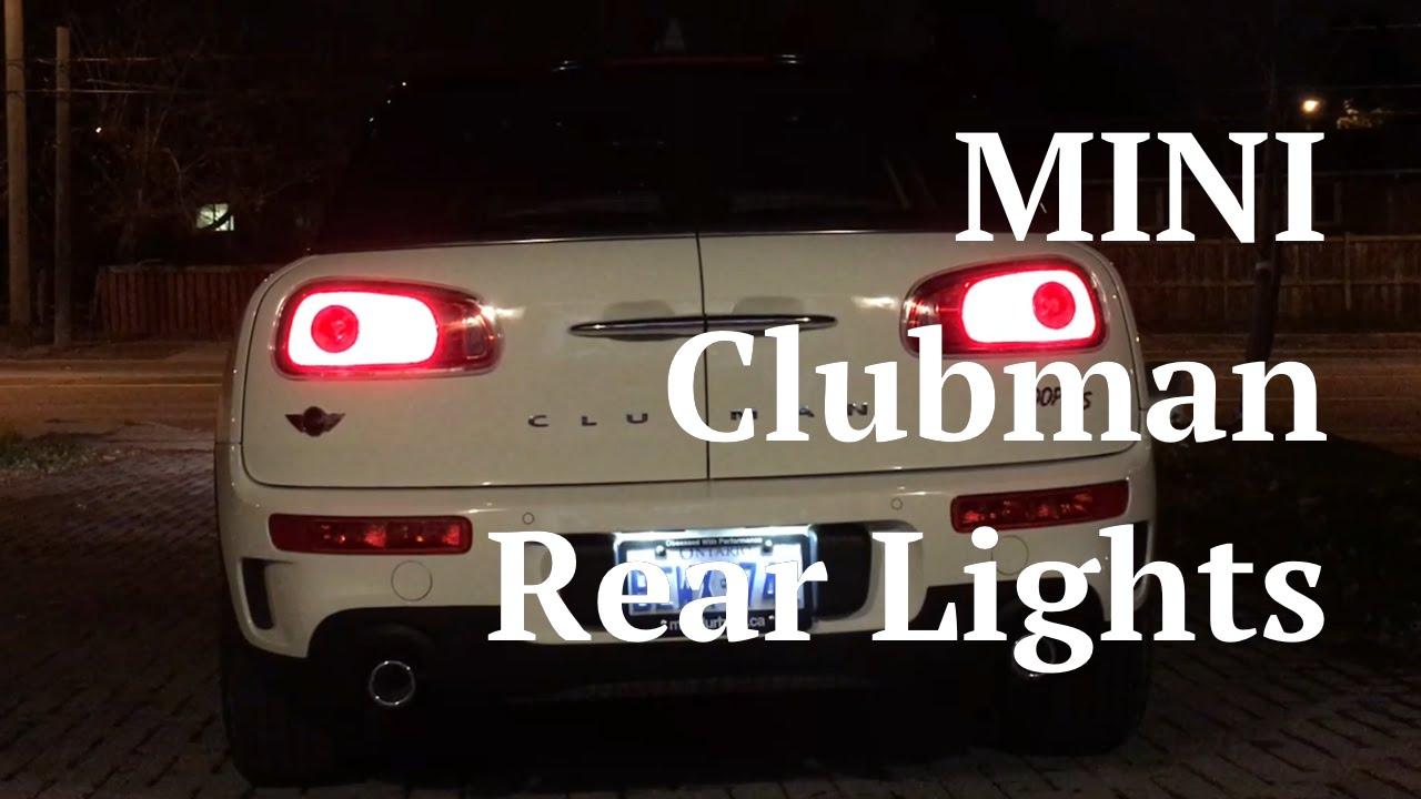 mini clubman f54 rear lights youtube. Black Bedroom Furniture Sets. Home Design Ideas