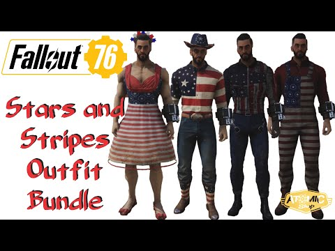 Repeat Fallout 76 | Stars and Stripes Outfit Bundle | Atomic Shop