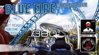 get ready for the launch   blue fire roller coaster   4k 360 video vr on ride pov   europa park