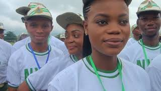 SWEARING IN CEREMONY OF THE 2018 EDO STATE NYSC BATCH B STREAM 1 PCM ORIENTATION COURSE EXERCISE