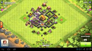 Clash of Clans - TH4 Maxed Out Trophy Base Design and War Base Design