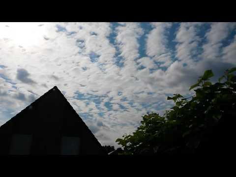 Altocumulus clouds Timelapse in Adegem, Belgium