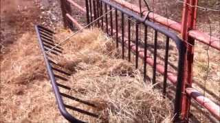 Make A Hay Feeder From A Futon~Recycling An Old Futon