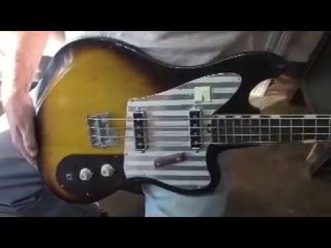 teisco del ray eb 200 bass demo youtube. Black Bedroom Furniture Sets. Home Design Ideas