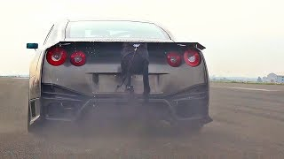 Brutal launch control acceleration of Nissan GTR R35 Alpha 16 with ...