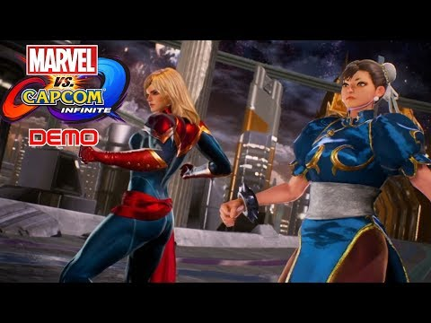 Chaos with Chun-Li & Captain Marvel  | Marvel vs Capcom Infinite Story Demo Playthrough