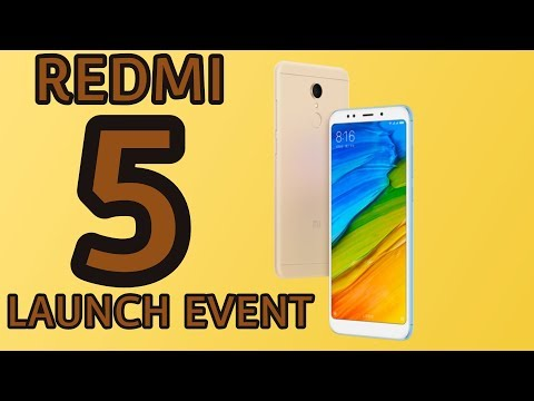 Xiaomi Redmi 5 Live Launch Event