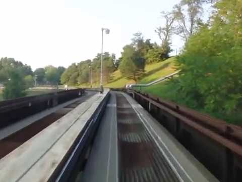Morgantown PRT (Personal Rapid Transit) from Walnut to Towers