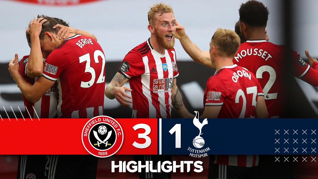 Sheffield United 3-1 Tottenham Hotspur   Premier League Highlights   Sander Berge nets against Spurs