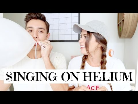 SINGING ON HELIUM WITH MY FIANCE