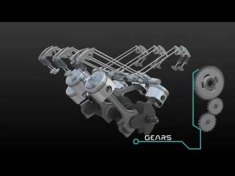 3D interactive car engine animation video