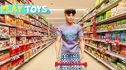 Ken Supermarket Grocery Shopping for Barbie Doll Morning Routine! 🎀