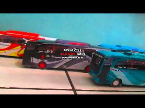 Papercraft papercraft bus indonesia