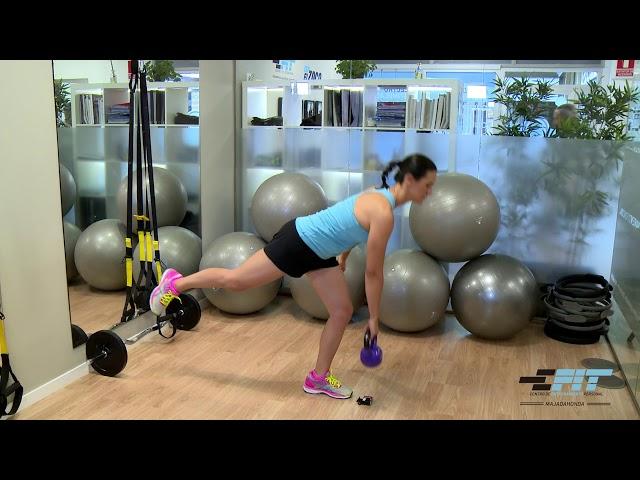 Ejercicio 33 - Peso muerto a una pierna  con peso externo  unilateral