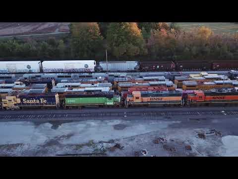 Locomotive Graveyard in Lordstown Ohio