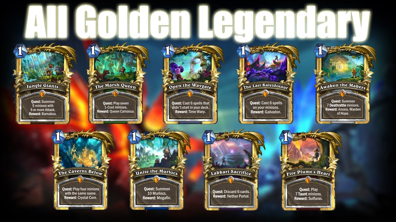 All Hearthstone Legendary Play Sounds! | Entrance Quotes ...