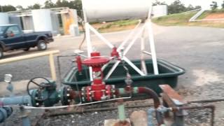 Blowing down and restarting natural gas compressor