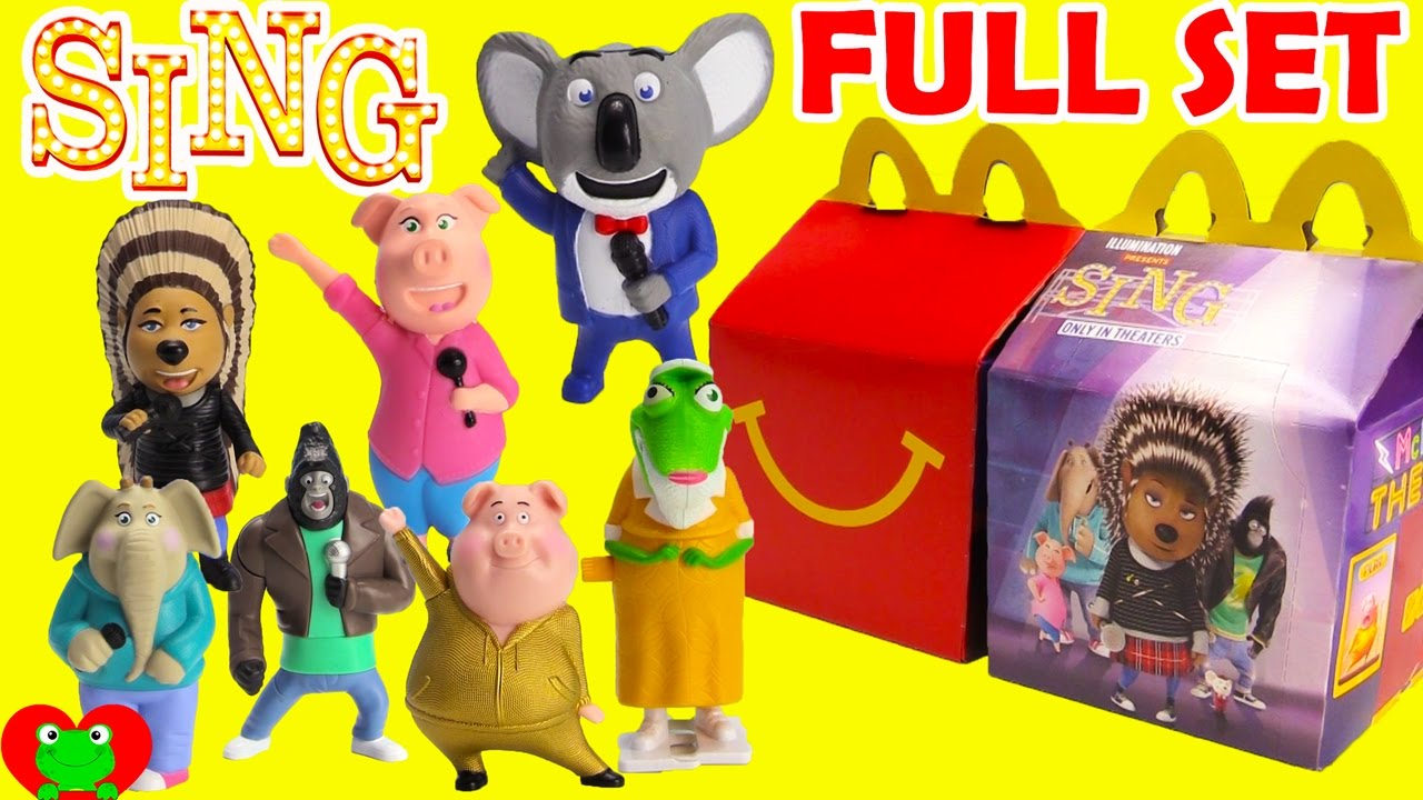2016 Sing McDonald's Happy Meal Toys Full Set | Doovi