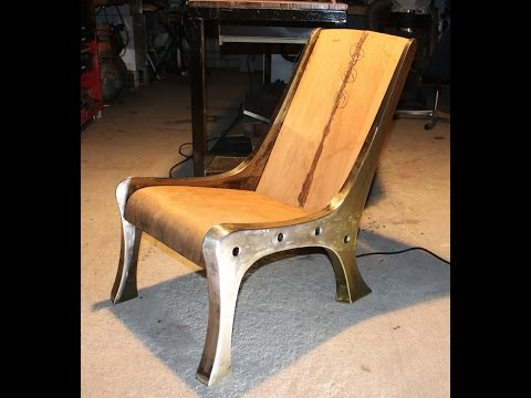 """The Sway"" Prototype?? An Industrial Modern single seat Lounge Chair"