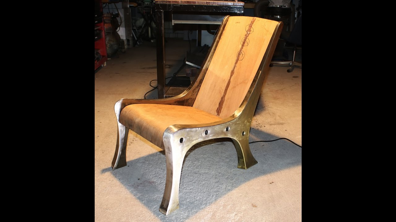 An Industrial Modern Single Seat Lounge Chair   YouTube