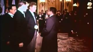 June 1, 1961 - President John F. Kennedy host diplomatic reception at the American Embassy in Paris
