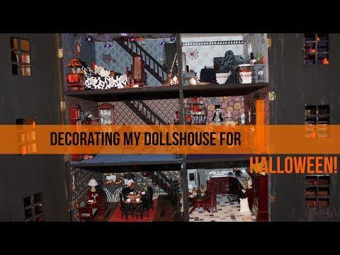 Decorating My Halloween Themed Dollhouse - DIY Dolls House (Part 11)